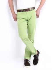 American Bull Men Lime Green Slim Fit Trousers