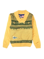 American Eye Boys Yellow & Green Sweater
