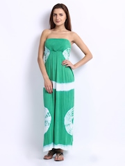 Green Printed Tube Dress American Laundry