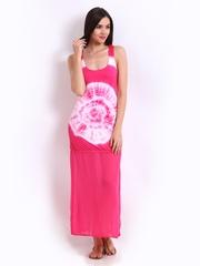 American Laundry Pink Tie-Dye Print Maxi Dress