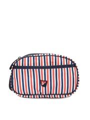 American Swan Men Red & Blue Shaving Bag