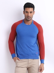 American Swan Men Blue & Red The Strong Sweatshirt