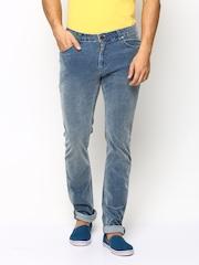 American Swan Men Blue Corduroy Trousers