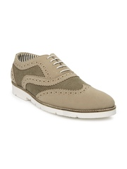 American Swan Men Mushroom Brown Casual Shoes