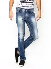 American Swan Men Blue Slim Fit Jeans