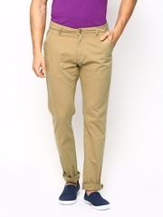 American Swan Men Khaki Casual Trousers