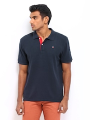 American Swan Men Navy Polo T-shirt