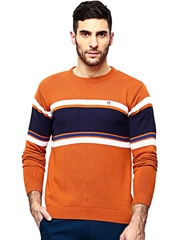 American Swan Men Rust Orange Sweater