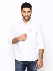 American Swan Men White Casual Shirt