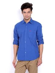 American Swan Men Blue Blake Avenue Royal Smart-Casual Shirt