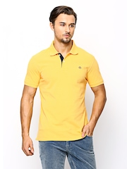 American Swan Men Yellow Polo T-shirt