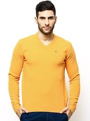 American Swan Men Yellow Wool Blend Sweater