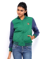 American Swan Women Green Padded Jacket
