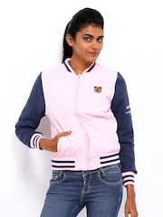 American Swan Women Light Pink Padded Jacket