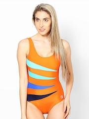 American Swan Women Orange Swimsuit