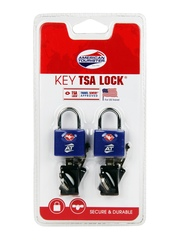 American Tourister Set of 2 Blue Key TSA Lock