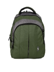 American Tourister Unisex AT Cyber C2L Green Backpack
