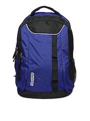 American Tourister Unisex Blue & Black Buzz Backpack