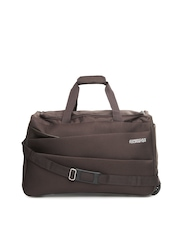 American Tourister Unisex Brown Trolley Duffle Bag