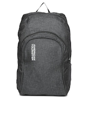 American Tourister Unisex Charcoal Grey Jiffy Oxford Backpack