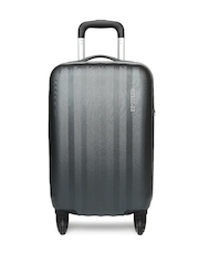 American Tourister Unisex Grey Spinner Trolley Suitcase