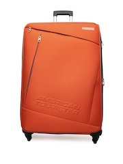 American Tourister Unisex Orange Quader Spinner Trolley Suitcase