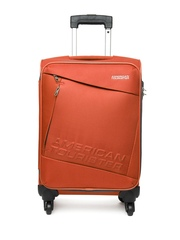 American Tourister Unisex Orange Quader Spinner Trolley Suitcase