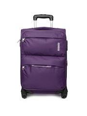 American Tourister Unisex Purple Trolley Suitcase