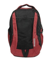 American Tourister Unisex Red & Black Zing 07 Backpack