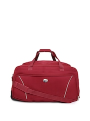 American Tourister Unisex Red Trolley Duffle Bag