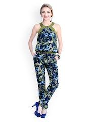 Anasazi Women Blue Printed Jumpsuit