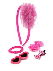 Angel Glitter Girls Pink Hair Accessory Set