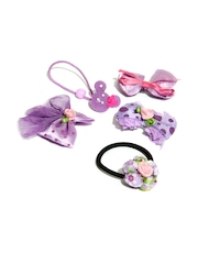 Angel Glitter Girls Purple Hair Accessory Set