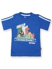 Angry Birds Boys Blue Printed T-shirt
