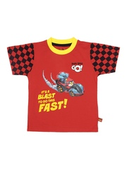 Angry Birds Boys Red Printed T-shirt
