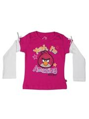 Angry Birds Girls Pink Drop Birds T-shirt