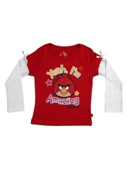 Angry Birds Girls Red Drop Birds T-shirt