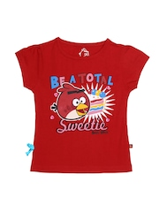 Angry Birds Girls Red Printed Top