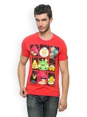 Angry Birds Men Orange Printed T-shirt