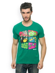 Angry Birds Men Green Printed T-shirt