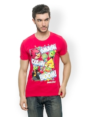 Angry Birds Men Red Printed T-shirt
