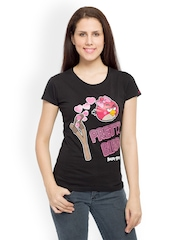 Angry Birds Women Black Printed T-shirt
