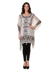 Anita Dongre Women Off-White & Black Printed Kaftan Tunic