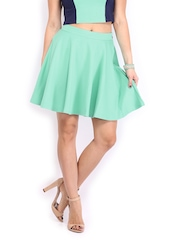 AND by Anita Dongre Sea Green Flared Skirt