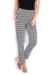AND by Anita Dongre Women Black & White Printed Trousers