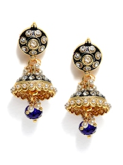 Anouk Blue & Gold Toned Drop Earrings
