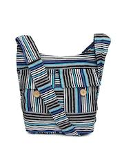 Anouk Blue & White Sling Bag