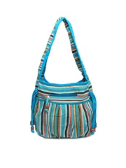 Anouk Blue Striped Shoulder Bag