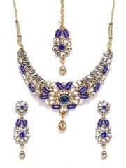 Anouk Gold-Toned & Blue Jewellery Set