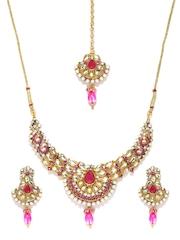Anouk Gold-Toned & Pink Jewellery Set